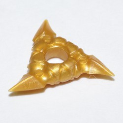 Pearl Gold Minifigure, Weapon Throwing Star (Shuriken) with Textured Grips - used