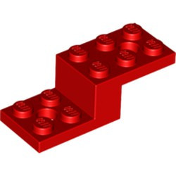 Red Bracket 5 x 2 x 1 1/3 with 2 Holes - used