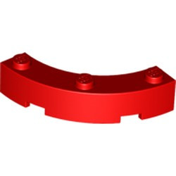 Red Brick, Round Corner 4 x 4 Macaroni Wide with 3 Studs