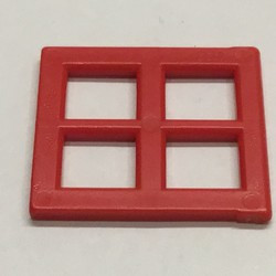 Red Pane for Window 2 x 4 x 3 - used