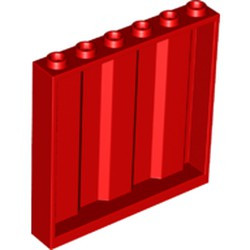 Red Panel 1 x 6 x 5 Corrugated - new