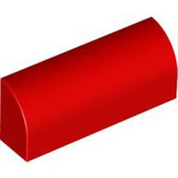 Red Slope, Curved 1 x 4 x 1 1/3 - new