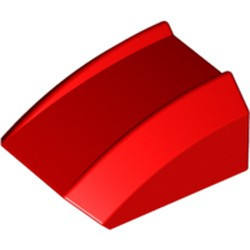 Red Slope, Curved 2 x 2 Lip - used