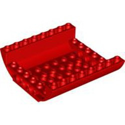 Red Slope, Curved 8 x 8 x 2 Inverted Double - new