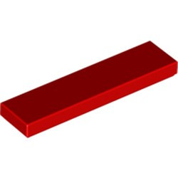 Red Tile 1 x 4 - new