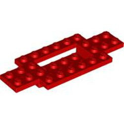 Red Vehicle, Base 4 x 10 x 2/3 with 4 x 2 Recessed Center with Smooth Underside
