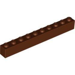 Reddish Brown Brick 1 x 10