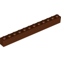 Reddish Brown Brick 1 x 12 - used