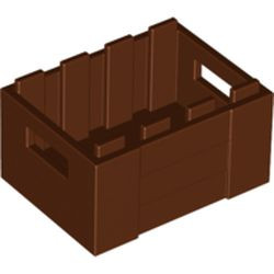 Reddish Brown Container, Crate 3 x 4 x 1 2/3 with Handholds