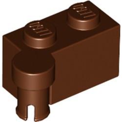 Reddish Brown Hinge Brick 1 x 4 Swivel Top