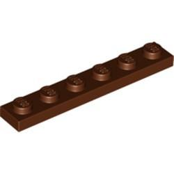 Reddish Brown Plate 1 x 6 - used