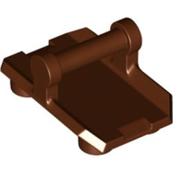Reddish Brown Plate, Modified 2 x 3 Inverted with 4 Studs and Bar Handle on Bottom - Closed Ends (Rocker Plate) - new