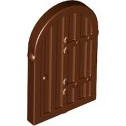 Reddish Brown Shutter for Window 1 x 2 x 2 2/3 with Rounded Top