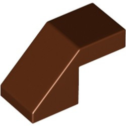 Reddish Brown Slope 45 2 x 1 with Cutout without Stud