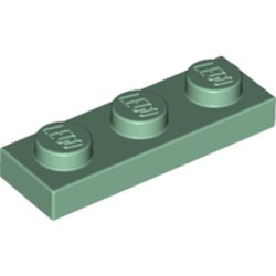 Sand Green Plate 1 x 3 - new