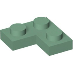 Sand Green Plate 2 x 2 Corner - new