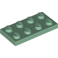 Sand Green Plate 2 x 4 - new