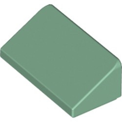Sand Green Slope 30 1 x 2 x 2/3 - new