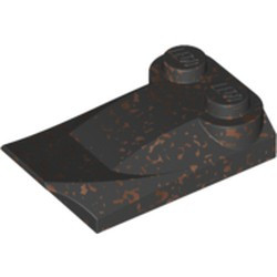 Speckle Black-Copper Slope, Curved 3 x 2 x 2/3 with Two Studs, Wing End