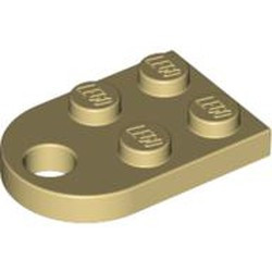 Tan Plate, Modified 3 x 2 with Hole - new