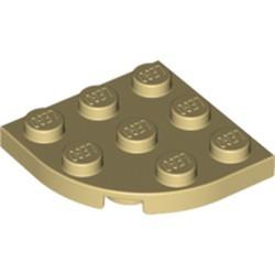 Tan Plate, Round Corner 3 x 3