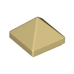 Tan Slope 45 1 x 1 x 2/3 Quadruple Convex Pyramid - new