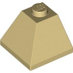 Tan Slope 45 2 x 2 Double Convex Corner - used