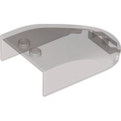 Trans-Black Windscreen 6 x 4 x 1 1/3 Curved