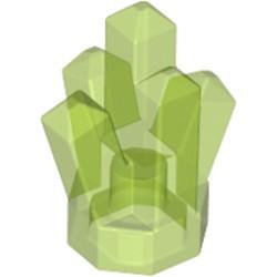 Trans-Bright Green Rock 1 x 1 Crystal 5 Point