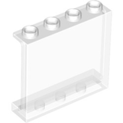 Trans-Clear Panel 1 x 4 x 3 with Side Supports - Hollow Studs