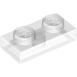Trans-Clear Plate 1 x 2