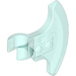 Trans-Light Blue Minifigure, Weapon Axe Head, Clip-on