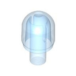 Trans-Medium Blue Bar with Light Cover (Bulb) / Bionicle Barraki Eye - used