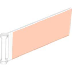 Trans-Neon Orange Flag 7 x 3 with Bar Handle