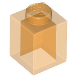 Trans-Orange Brick 1 x 1 - new
