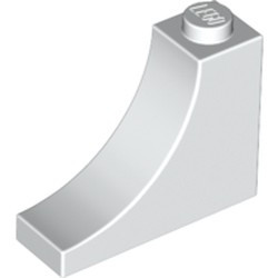 White Brick, Arch 1 x 3 x 2 Inverted - new