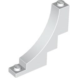 White Brick, Arch 1 x 5 x 4 Inverted - new