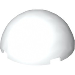 White Cylinder Hemisphere 4 x 4 Multifaceted - used