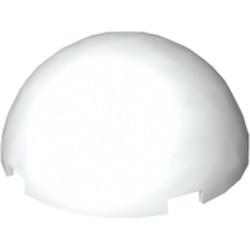 White Cylinder Hemisphere 4 x 4 Multifaceted