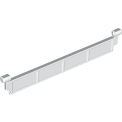 White Garage Roller Door Section without Handle - used