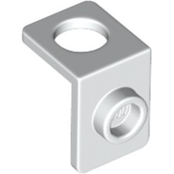 White Minifigure Neck Bracket with Back Stud - Thick Back Wall