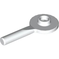 White Minifigure, Utensil Signal Paddle - used