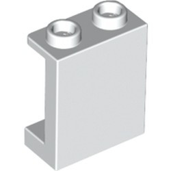 White Panel 1 x 2 x 2 with Side Supports - Hollow Studs