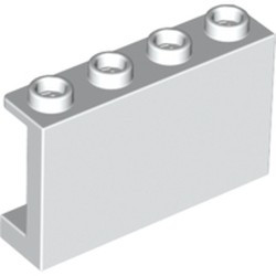 White Panel 1 x 4 x 2 with Side Supports - Hollow Studs - new