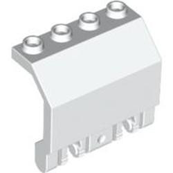 White Panel 2 x 4 x 3 1/3 with Double Locking 2 Fingers Hinge - used