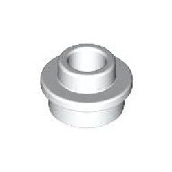 White Plate, Round 1 x 1 with Open Stud - new