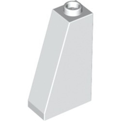 White Slope 75 2 x 1 x 3 - Hollow Stud