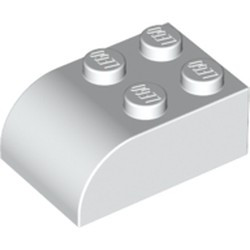 White Slope, Curved 3 x 2 x 1 with Four Studs