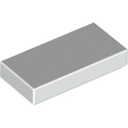 White Tile 1 x 2 with Groove