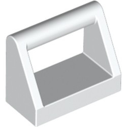 White Tile, Modified 1 x 2 with Bar Handle